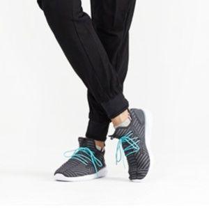 Black Mesh Knit Slip-On Sneakers